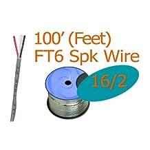 16/2 Awg 100 ft Oxygen Free Plenum Speaker Wire FT6 (New)