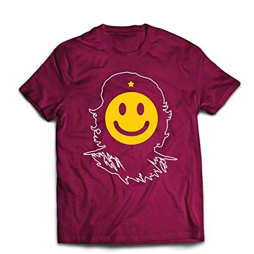 lepni.me Men's T-Shirt Anti-Communism, Political Protest Che Guevara Emoji (Medium Burgundy Multi Color) for $<!--$14.94-->