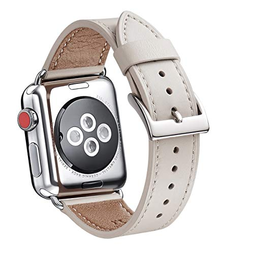 - WFEAGL Compatible iWatch Band 38mm 40mm, Top Grain Leather Band Replacement Strap for iWatch Series 4,Series 3,Series 2,Series 1,Sport, Edition (38mm 40mm)