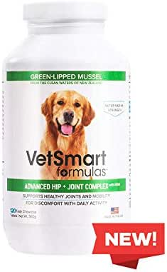 VetSmart Advanced Hip and Joint Complex with MSM - Provides Relief of Dog Joint Pain - 100% Natural Pain Relief
