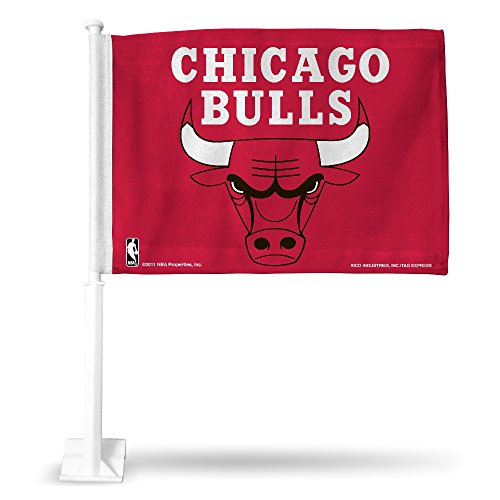 - NBA Chicago Bulls Car Flag, Red, with White Pole
