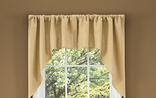 Swags Treatments Window (Park Designs Burlap Swag, 72 x 36)