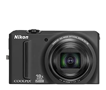Nikon Coolpix S9100 Digital Camera with 18x Optical Zoom (Black) Point & Shoot Digital Cameras at amazon