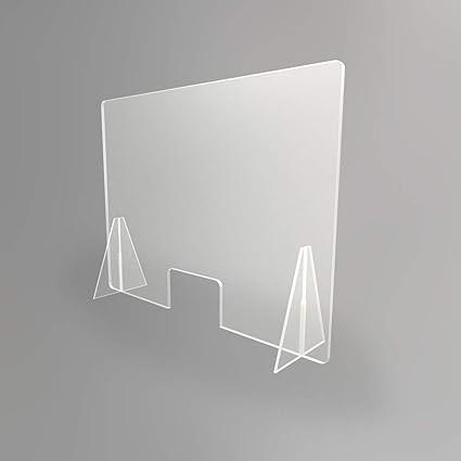 Mampara transparente anti contagio y protección 100 x 75 cm ...