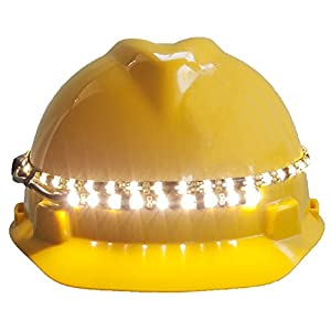 OrbitSun™ 360° High Visibility LED Hardhat Light with 'Power-Protected' Battery Pack (535 lumens)