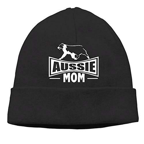 PPUttDJddGH-P Adult Men's Womens Unisex Aussie Mom Australian Shepherd Dog Dance Wool Cap ()