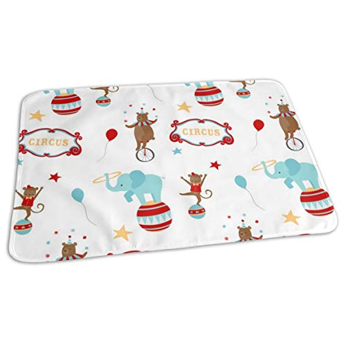 Circus Baby Portable Reusable Changing Pad Mat 19.7X 27.5 inch