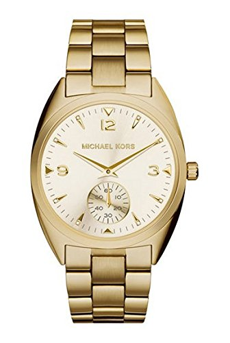 Michael Kors Callie Champagne Dial Gold-tone Unisex Watch MK3344