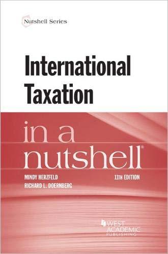 Pdf Law International Taxation in a Nutshell (Nutshells)