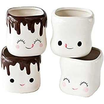 Amazon Com Cute Marshmallow Shaped Hot Chocolate Mugs