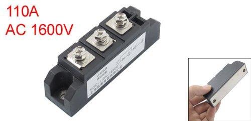 eDealMax Noir 3 Bornes redresseur Module Transistor semi-conducteur AC 1600V 110A