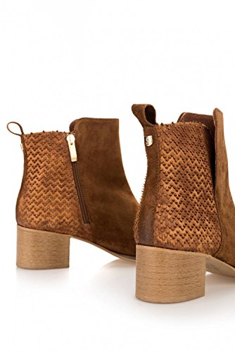 With Salsa Boots Leather Plaque Details Beige EqvnawT8vH