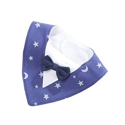 Oyamihin Triángulo de la Moda Arco Impermeable Bebé Babero Drool Orgánico Suave Pure Baberos de algodón para Dentición...