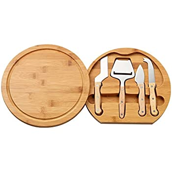 Cheese Cutting Board U0026 Cheese Tools Set   Includes Bamboo Storage Cutting  Board And 5 Piece