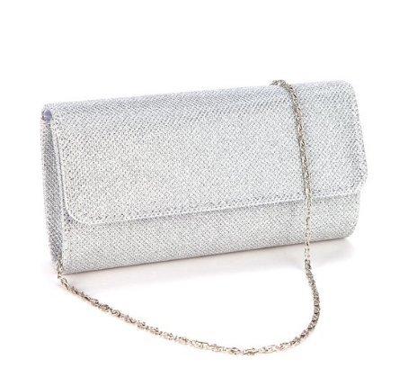zeuxs plata bolso de mano hembra bolsa bandolera paquete