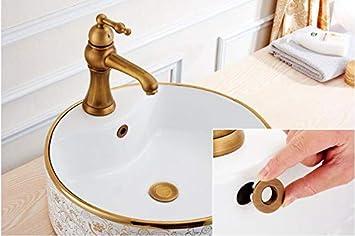 anillo de rebosadero para ba/ño cocina tapa de desag/üe para fregadero repuestos de inserci/ón lavabo art/ístico tapas de drenaje Cubierta de desag/üe de fregadero de cobre marr/ón
