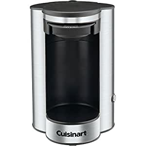 Conair Cuisinart Independiente Máquina de café en cápsulas 1tazas Negro, Acero inoxidable - Cafetera (Independiente, Máquina de café en cápsulas, Negro, Acero inoxidable, Acero inoxidable, 1 tazas, Dosis de café)