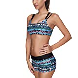 Bikini 3pcs Set Tankini Tribal Aztec Bathing Suit