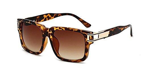 rond lunettes cercle style du Léopard métallique en soleil polarisées retro de Lennon Cadre inspirées vintage vqxTv7r