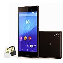 Sony Xperia M4 Aqua Unlocked Smartphone, Dual Sim, No Warranty, 8 GB, Retail Packaging, Black