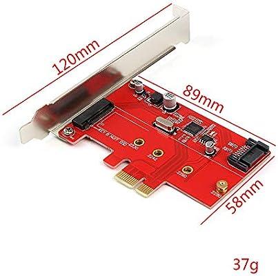 LeHang PCI-E Express 2.0 a NGFF M.2 B Llave SSD SATA 3.0 a PCI-E PCI Sata Express Combo Tarjeta convertidor de Adaptador