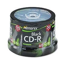 511424-CD-R Discs 700MB/80min 48x Spindle Black Case Pack 1
