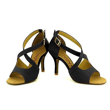 Noir RDWDFC Chaussures de Danse de Piste de Danse Latine pour Femme US11   EU43   UK9   CN44