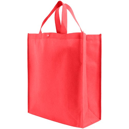 Reusable Grocery Tote Bag Large 10 Pack - Red ()