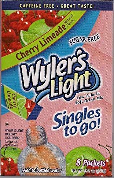 - Wyler's Cherry LIMEADE Singles to Go 6-Boxes (8 Packets Each Box)
