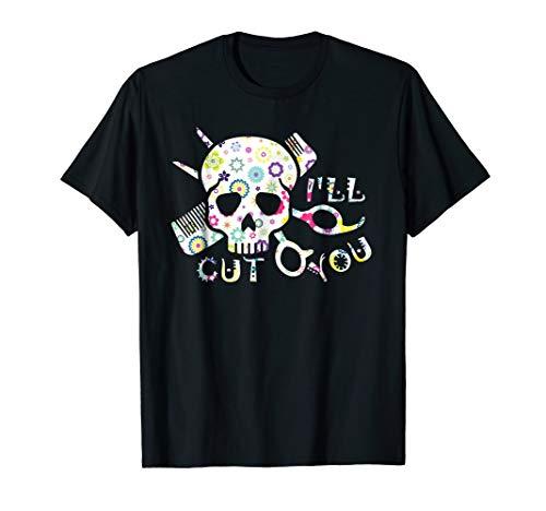 Gift For Women I'll Cut You Hairstylist Halloween T-shirt ()