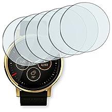 6x Golebo Anti-Glare screen protector for Motorola Moto 360 2nd Gen. 42 mm (Anti-Reflex, Air pocket free application, Easy to remove)