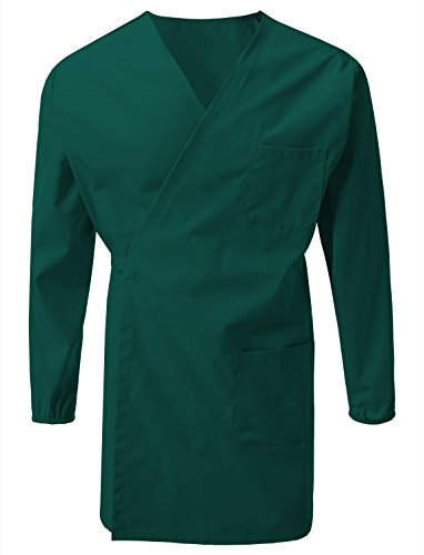 7 Encounter Unisex Multifuctional Wrap Smock Chest Side Pockets Green Size S/M ()
