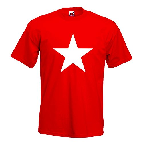 En Différentes Imprimé Xxl Couleurs shirt Fun Étoile Motif Rouge S Xl Kiwistar L 15 Coton T M Icône Homme 6Rxgq