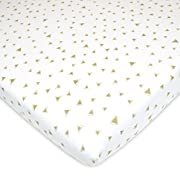 American Baby Company Printed 100% Cotton Jersey Knit Fitted Pack N Play Playard Sheet, Taupe Triangles