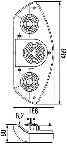 Fitting HELLA 2SD 343 440-017 Combination Rearlight Fitting Position: Left P21//5W//P21W//PY21W Caraluna 12V