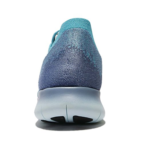 Nike Kvinders Frie Rn Flyknit 2017 Løbesko Arbejde Blå / Mørk Obsidian lxIN208pQ4