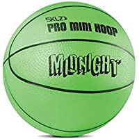 SKLZ Basketball Pro Mini Hoop Midnight Ball.  Glow-in-the-Dark Ball - 5inch (NSK000060_Grün_5 - Small)