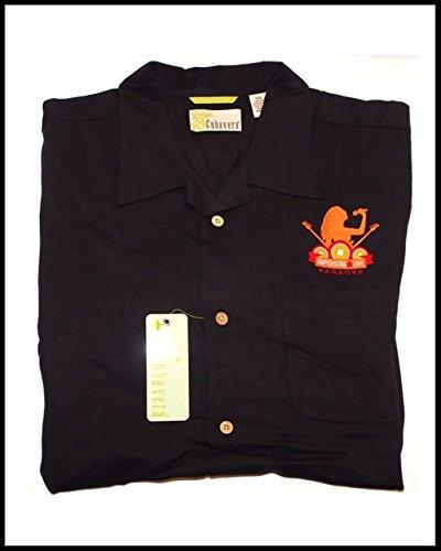 CUBAVERA Men's BLACK Size XXL Bedford Cord Blended Camp Shirt - KARAOKE - Camp Shirts Carnival