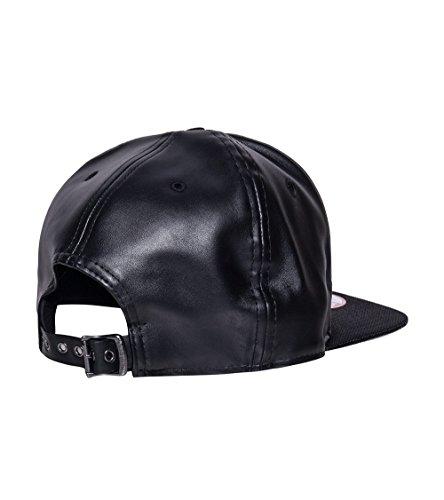 Cincinnati Bengals New Era 9FIFTY NFL Strapback Black Leather Buckle Cap (New Era Cap Leather Cap)