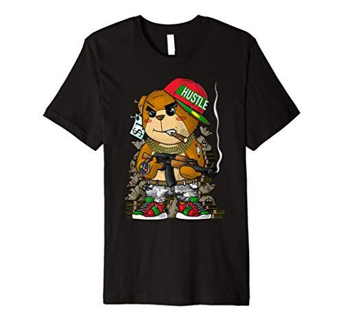 Hustle Hard Teddy Bear AK47 Clothing Men Entrepreneur Gift Premium T-Shirt (Clothing Ak47)