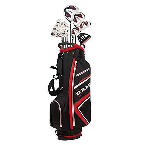 (RAM Golf Accubar 16 pc Golf Clubs Set - Graphite Shafted Woods and Irons - Mens Right Hand)