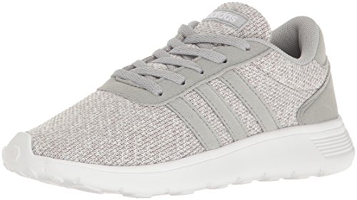 adidas NEO Girls' Lite Racer K Running Shoe, Clear Onix/Light Onix/White, 5 M US Big Kid by adidas