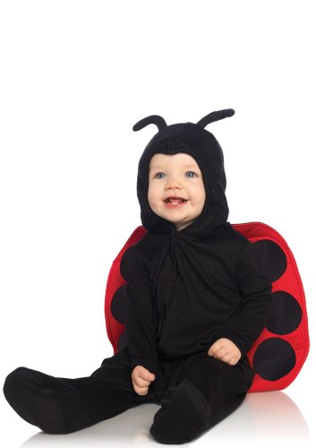 Leg Avenue Anne Geddes Baby Ladybug Ultra Soft Hooded Pajama with Stuffed Body Antennae, Black/Red, 18M-24M ()
