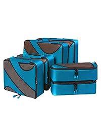 BAGAIL 6 Set cubos de embalaje, 3 diferentes tamaños Travel Equipaje organizadores de embalaje Azul oscuro