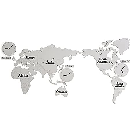 Zwl world map wall clock creative wall clock living room modern zwl world map wall clock creative wall clock living room modern background wall decoration fashion gumiabroncs Images
