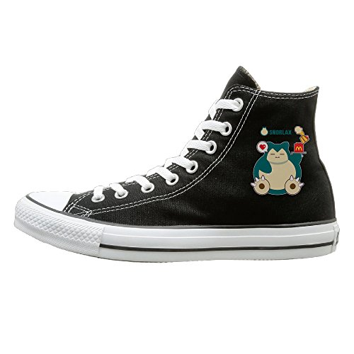 [GOLIP X-max Gift Hungry Snorlax Funny High Top Sneakers Canvas Shoes 38] (Little Boy Football Player Costume)