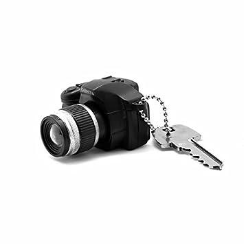 Pixturize HO.03.0069.01 - Llavero cámara réflex con LED, Negro