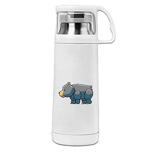 Bekey Black Bear Cute Stainless Steel Vacuum Travel Mug With Handle Cup Water Bottle