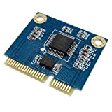 Dual TF Micro SD Card to Mini PCI-E Express with half Bracket Memory Card Reader Adapter CableCC