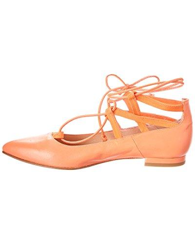 Franska Enda Ophelia Läder Platt, 8, Orange